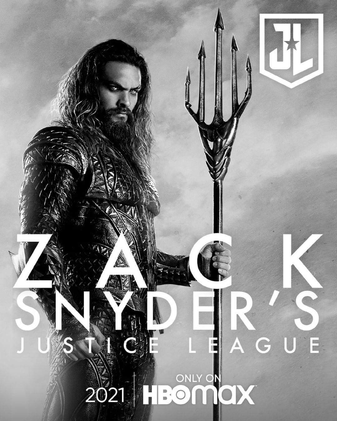 Jason Momoa Snyder Cut Aquaman poster