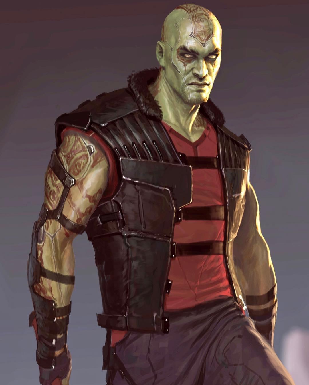Jason Momoa Drax Guardians of the Galaxy Concept Art