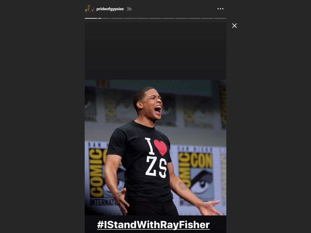 Jason Momoa Stands With Ray Fisher