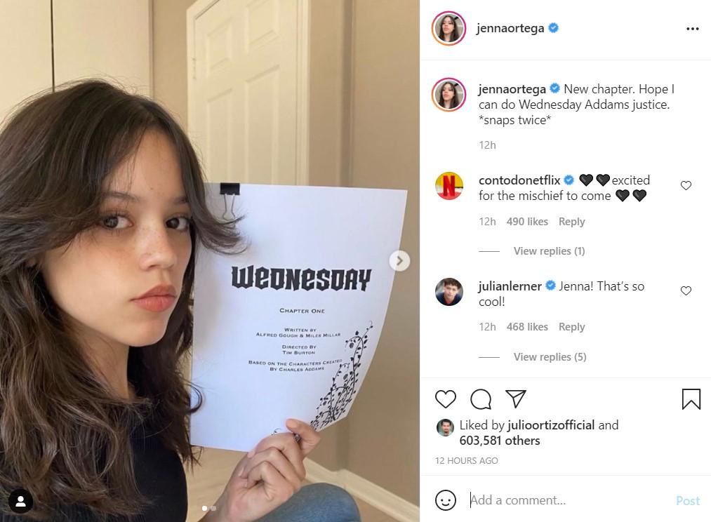 Jenna Ortega Wednesday Addams