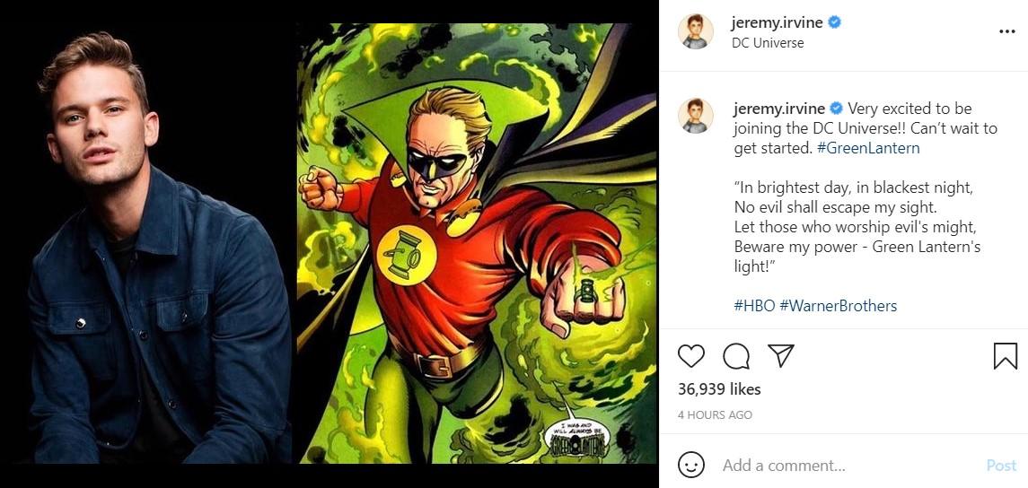 Green Lantern: Jeremy Irvine Cast As Alan Scott