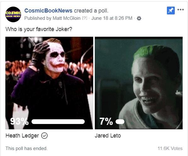 Heath Ledger Joker Jared Leto