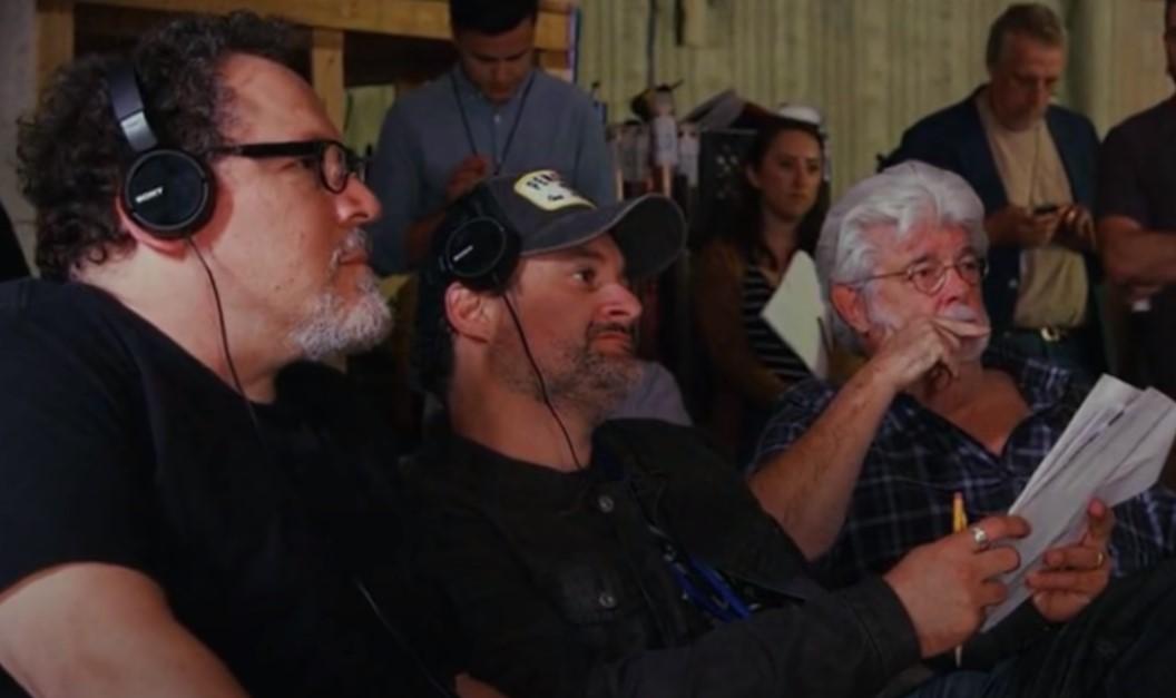 Jon Favreau Dave Filino George Lucas Star Wars set