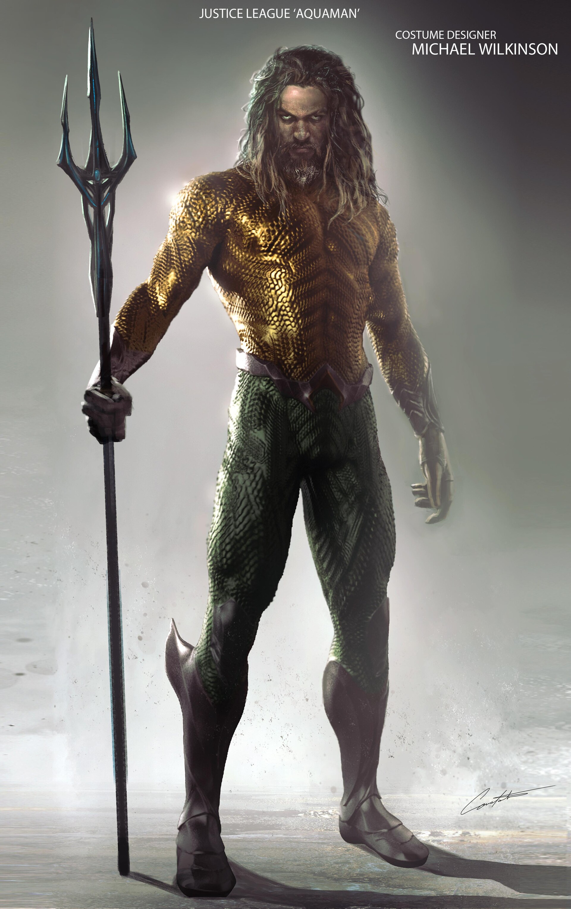 Justice League Aquaman concept art