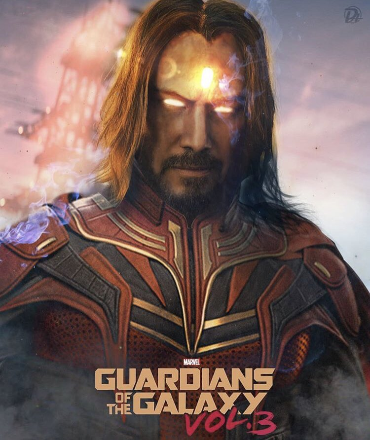 Keanu Reeves Adam Warlock Guardians of the Galaxy 3 Fan Art