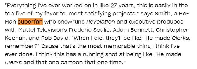 Kevin Smith He-Man superfan