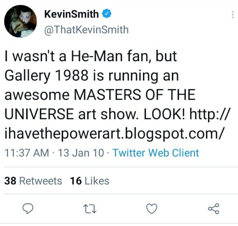 Kevin Smith not a He-Man fan tweet