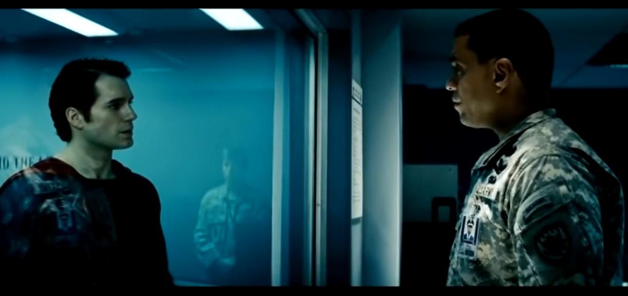 Man of Steel Superman General Swanwick interrogation scene