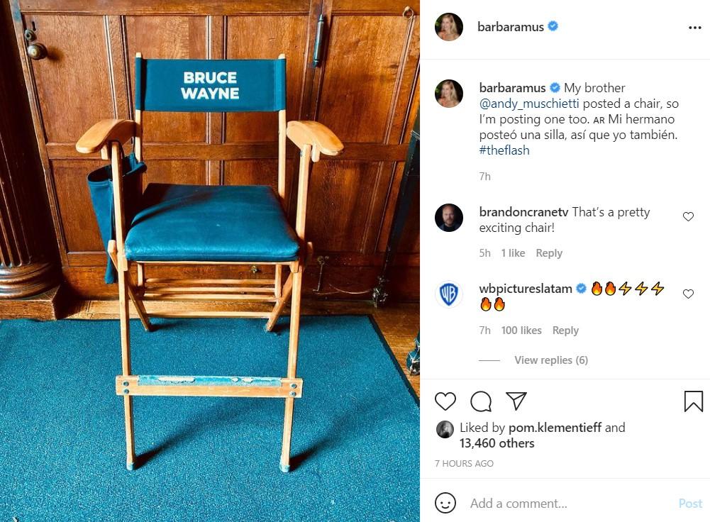 Michael Keaton Batman The Flash chair