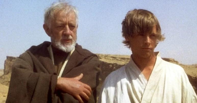 Star Wars Obi-Wan Kenobi and Luke Skywalker