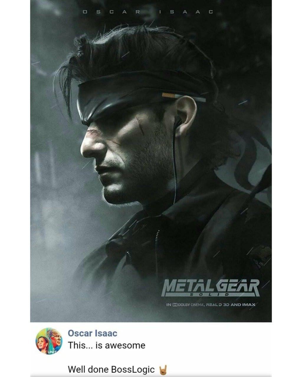 Oscar Isaac Solid Snake Metal Gear Fan Art
