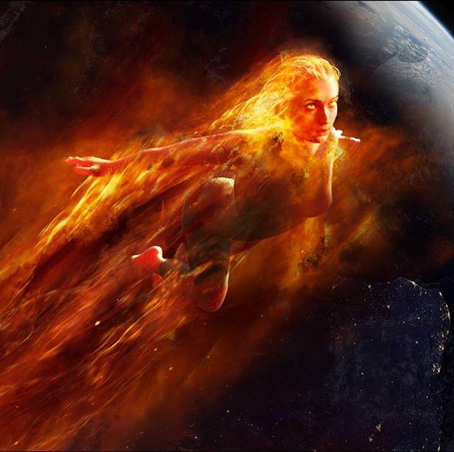 Dark Phoenix blasts off into space