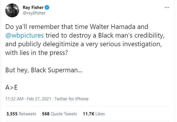 Ray Fisher Black Superman