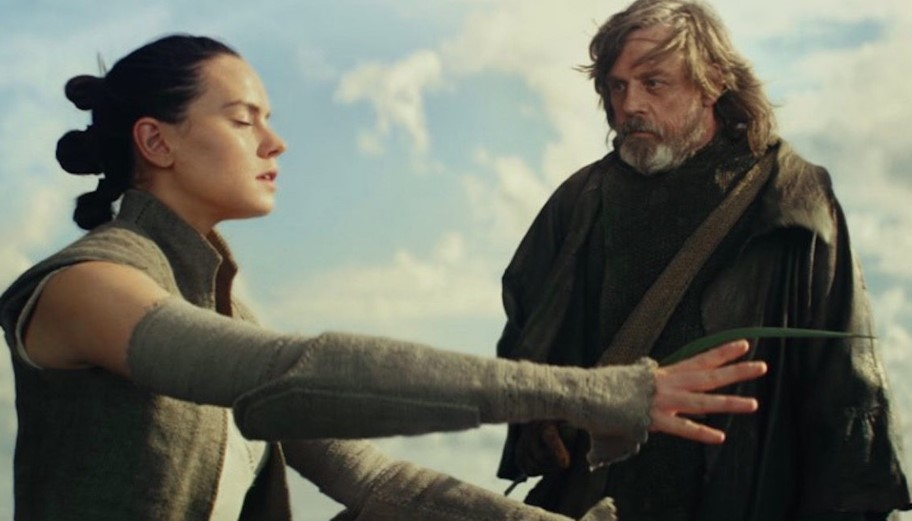 Rey and Luke Star Wars