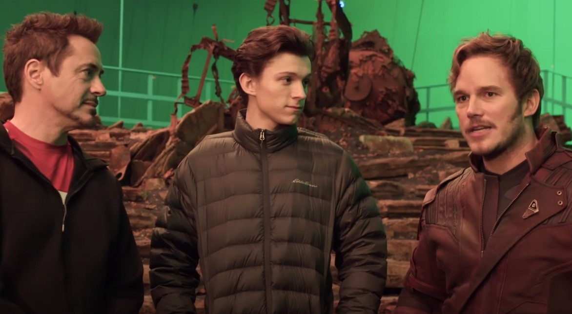 Robert Downey Jr Tom Holland Chris Pratt Infinity War