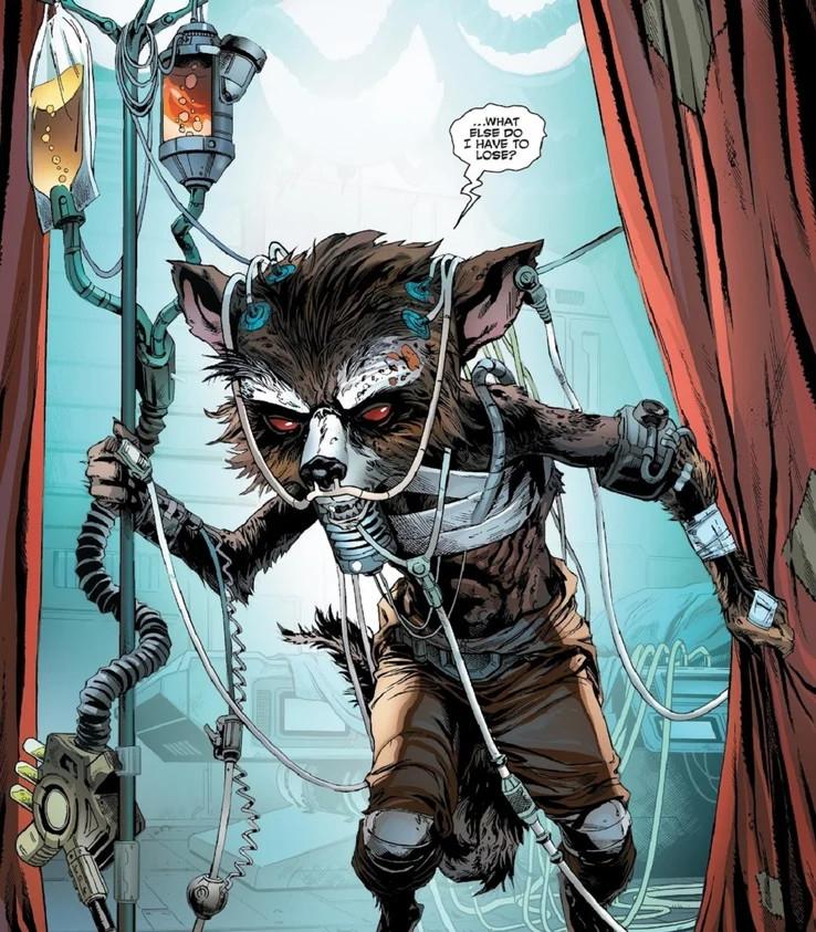 Rocket Raccoon sick comics