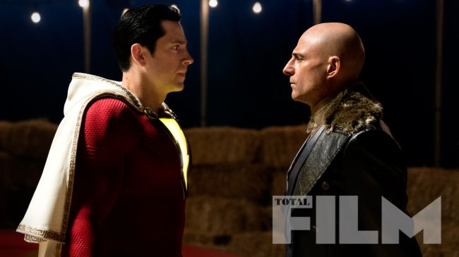 Shazam Zachary Levi and Mark Strong
