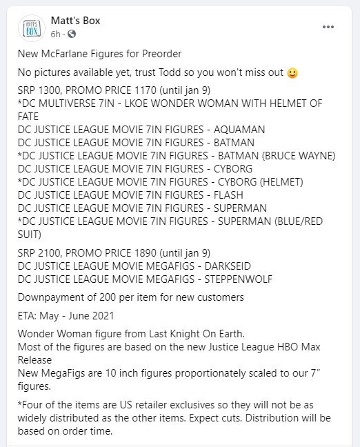 Snyder Cut Justice League action figures McFarlane Toys