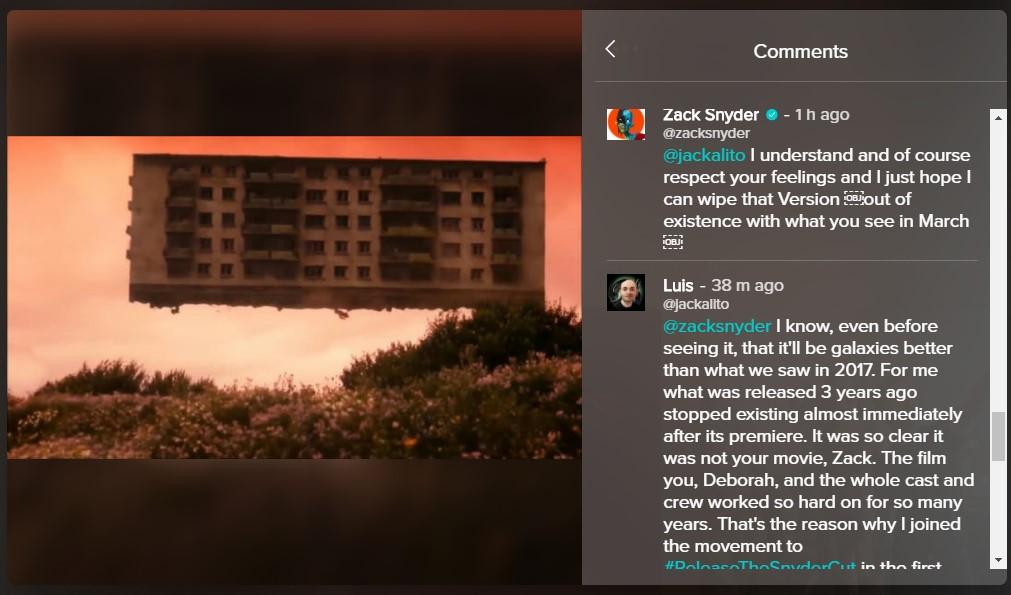 Snyder Cut March Releaes HBO Max Zack Snyder