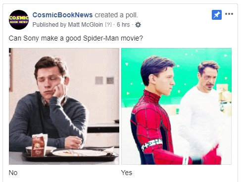 Sony Spider-Man poll cosmic book news