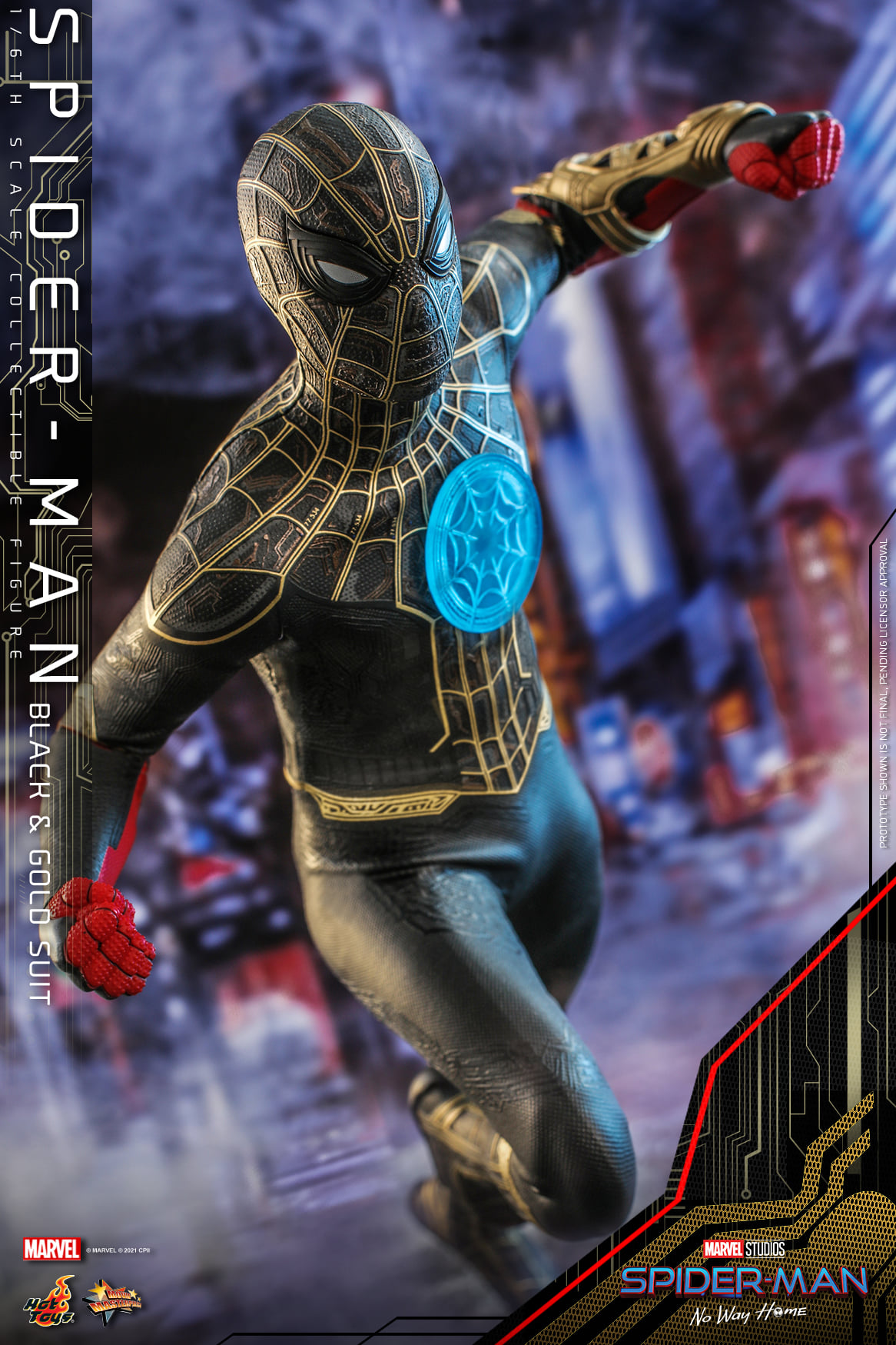 Spider-Man black and gold suit hot toys