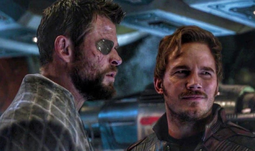 Chris Pratt Star-Lord Chris Hemsworth Thor