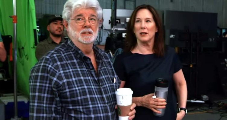 Sta Wars George Lucas and Kathleen Kennedy