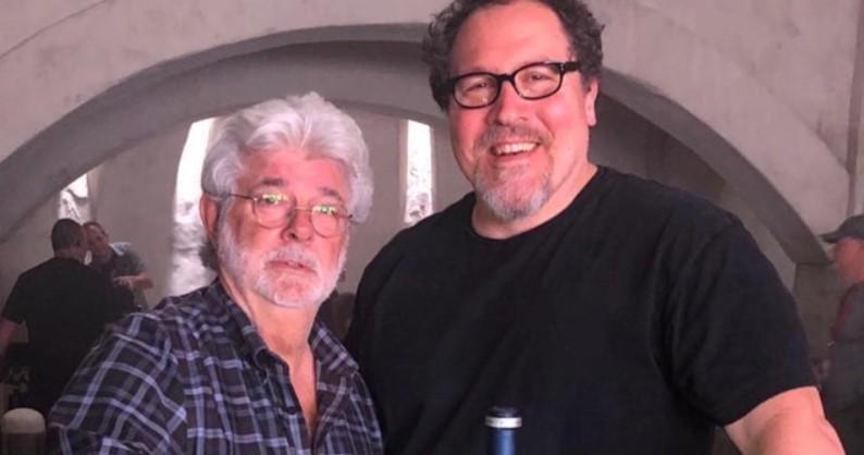 Star Wars The Mandalorian George Lucas and Jon Favreau