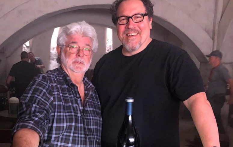Star Wars George Lucas and Jon Favreau