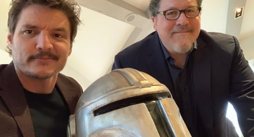 Star Wars Pedro Pascal and Jon Favreau