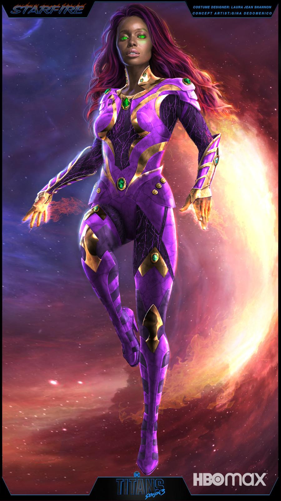 Starfire supersuit Titans Season 3