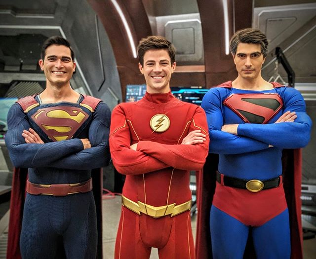 Superman The Flash Crisis On Infinite Earths Superman Brandon Routh Tyler Hoechlin Grant Gustin