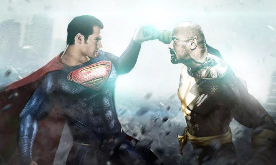 Superman Dwayne Johnson Black Adam