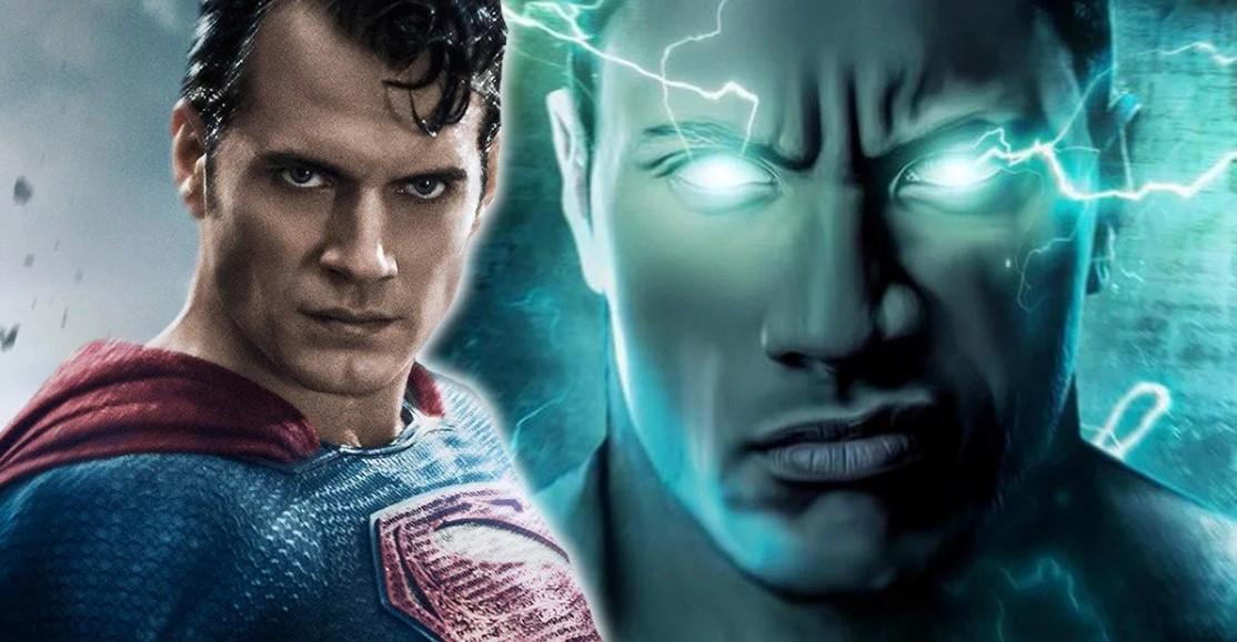 Dwayne Johnson Black Adam vs Superman Henry Cavill