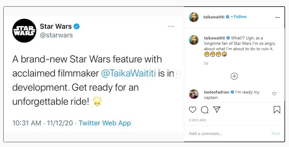Taika Waititi Jokes About Ruining Star Wars