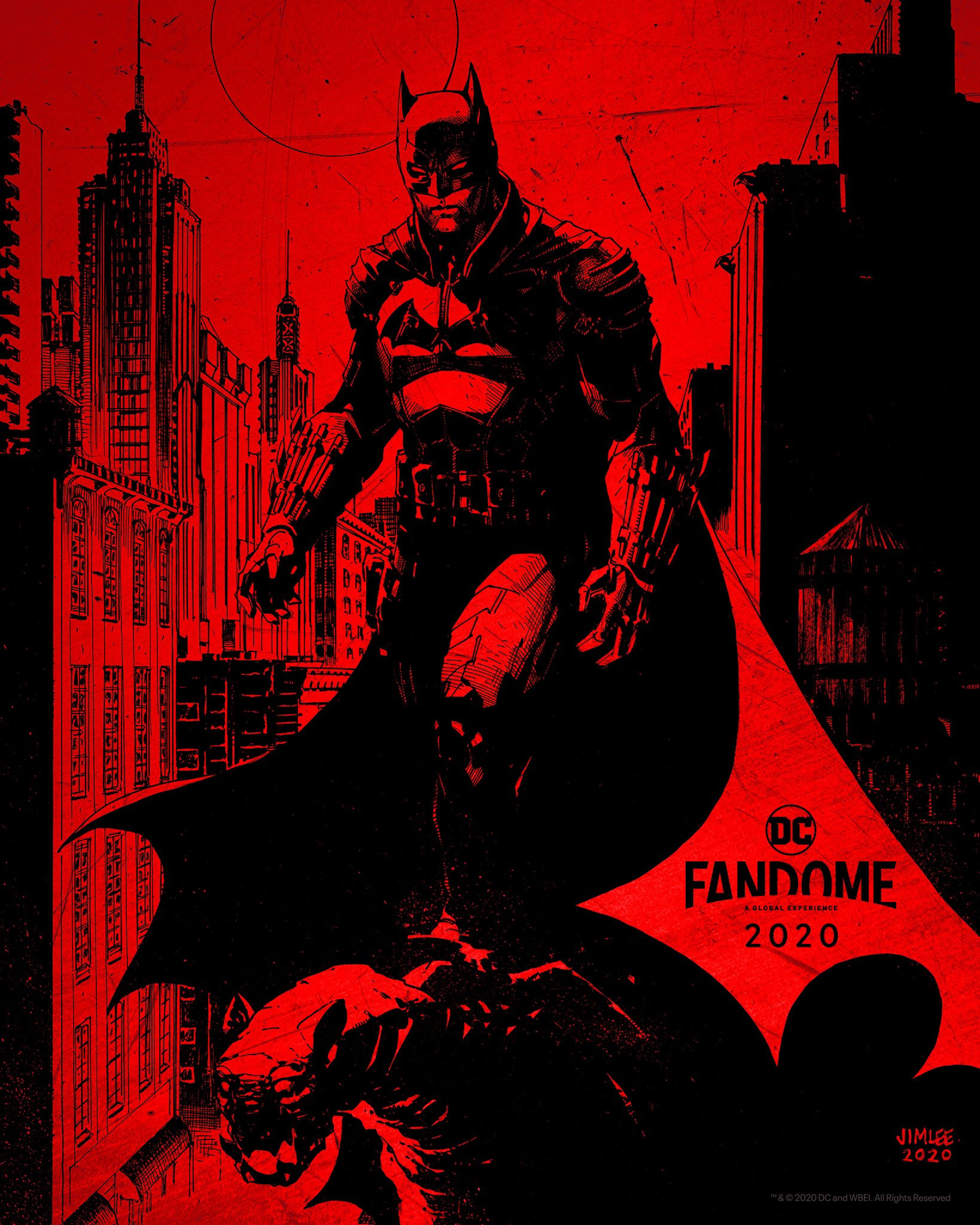 The Batman Robert Pattinson DC FanDome poster