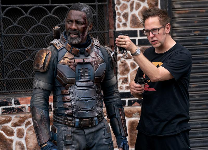 The Suicide Squad James Gunn and Idris Elba