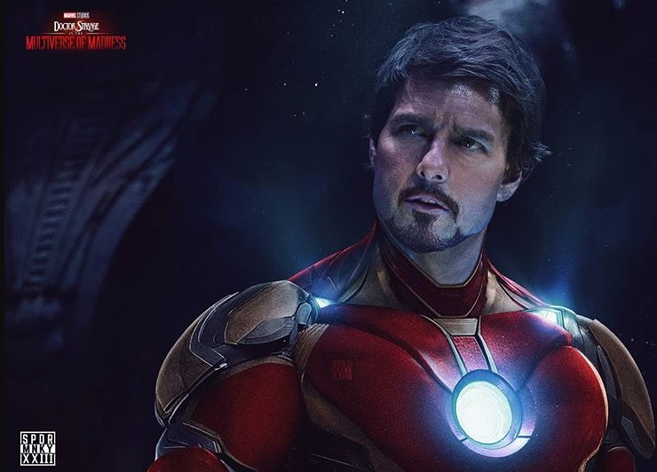 Tom Cruise Iron man fan art