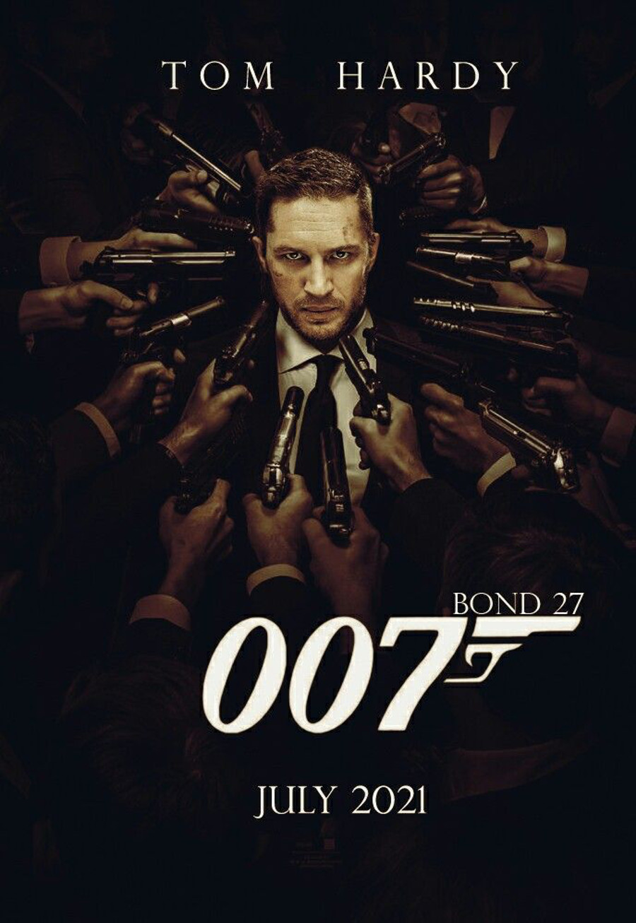 Tom Hardy James Bond fan art