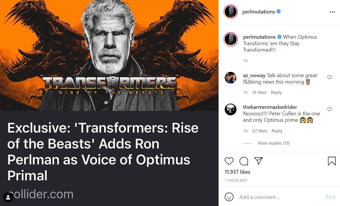 Transformers Ron Perlman Optimus Primal