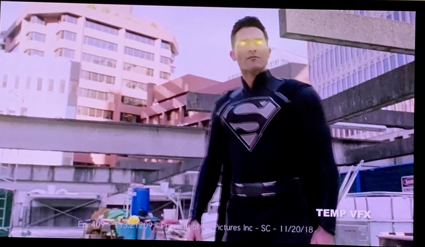 Tyler Hoechlin Black Superman Suit