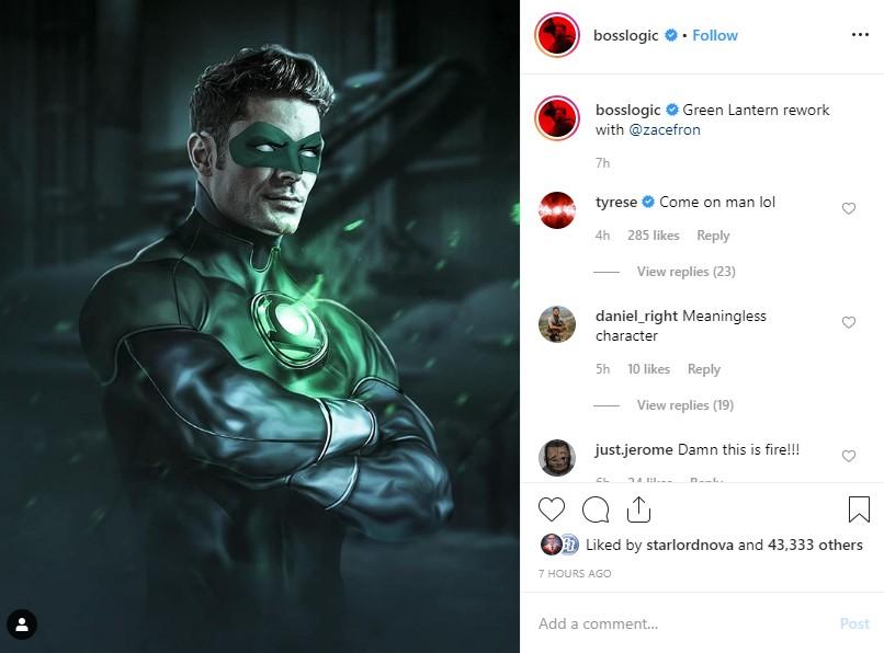 Tyrese Zac Efron Green Lantern