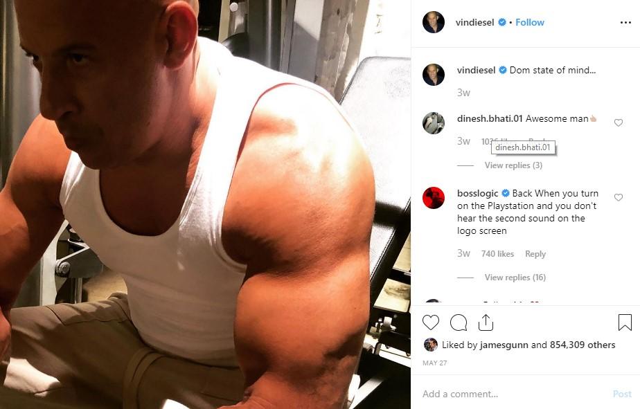 Vin Diesel Fast Furious 9