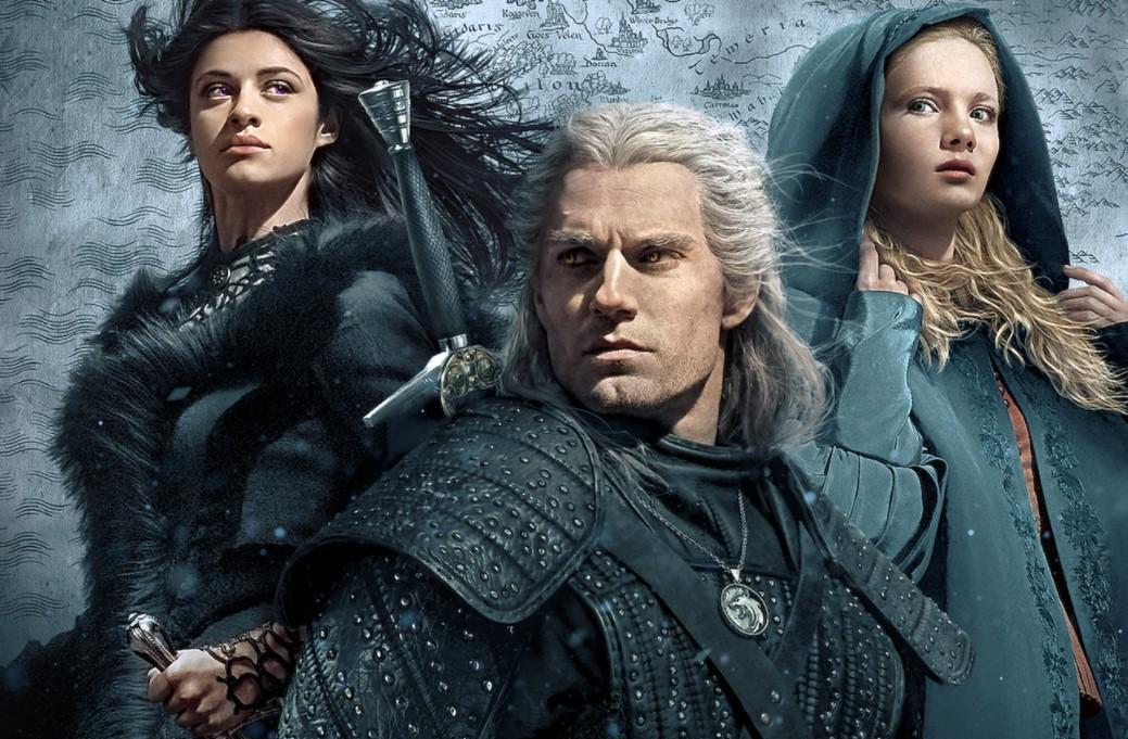 The Witcher Netflix Henry Cavill Anya Chalotra and Freya Allan