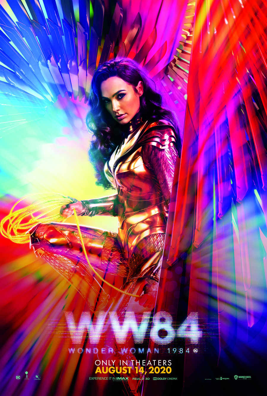 Wonder Woman 1984 Gal Gadot poster new release date