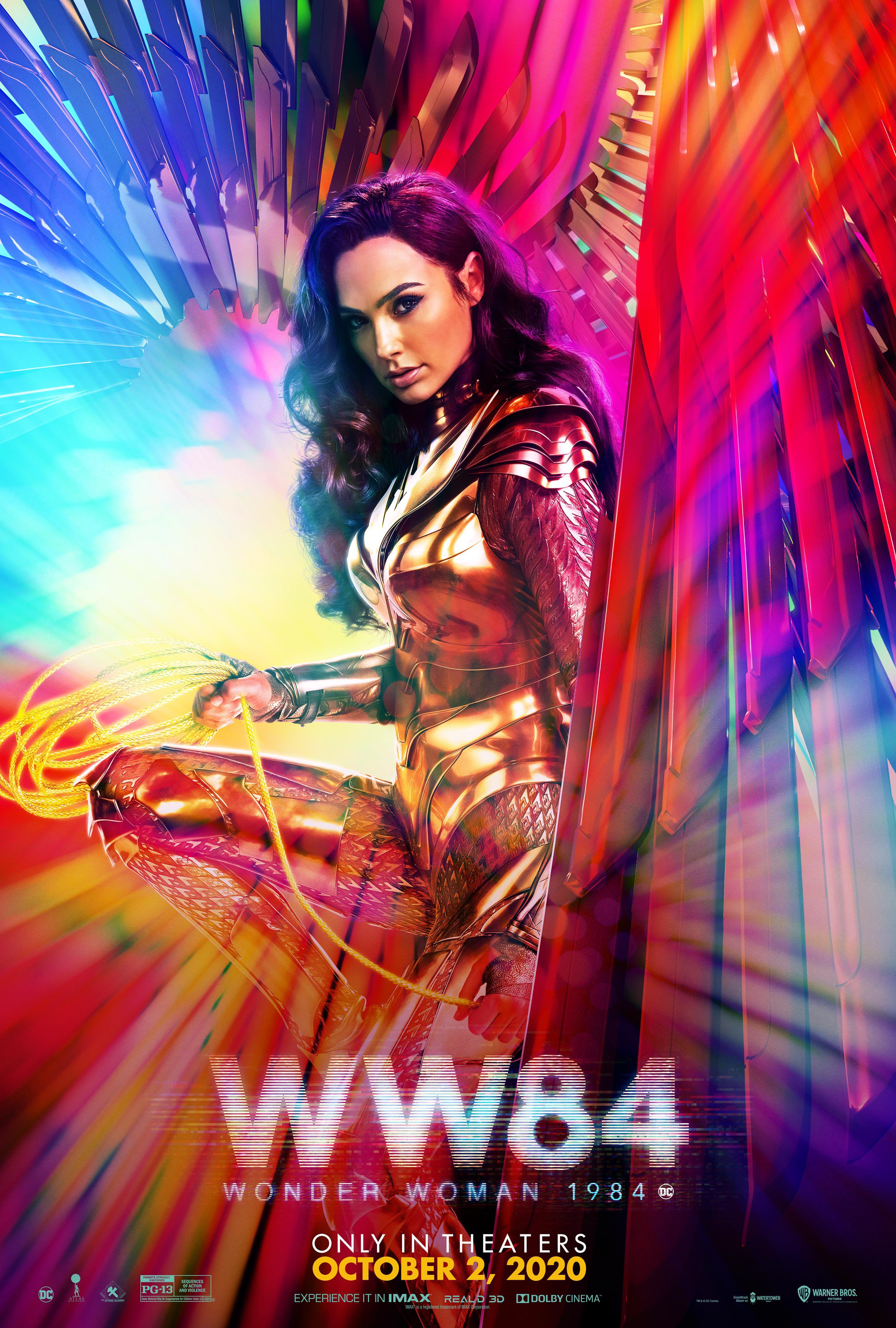 Gal Gadot Wonder Woman 1984 Poster Sports New October Release Date | Cosmic  Book News