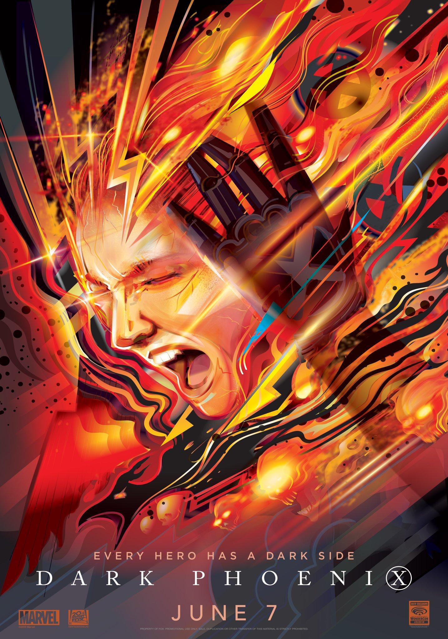 X-Men Dark Phoenix WonderCon poster