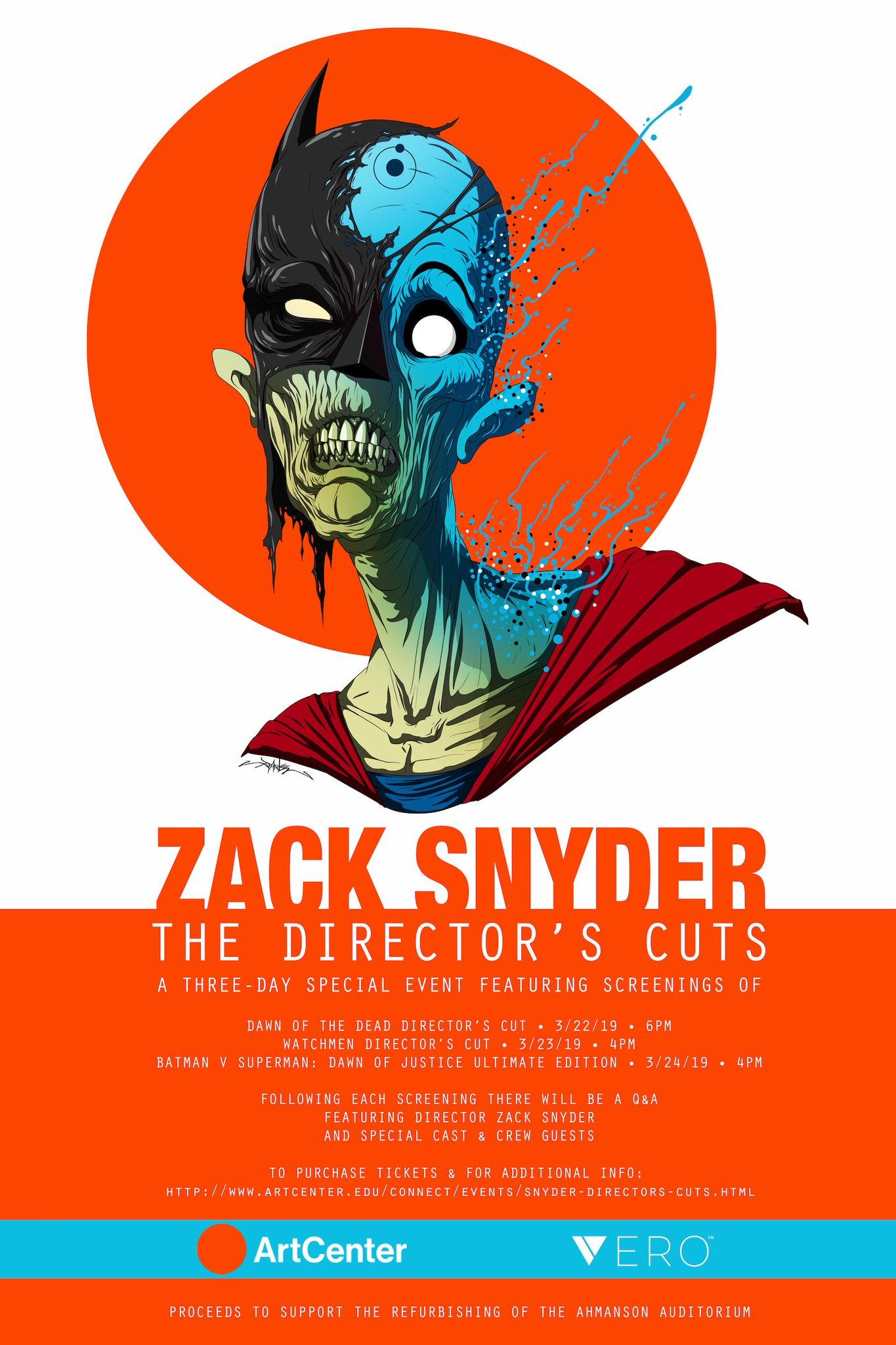 Zack Snyder Batman vs Superman Directors Cut event