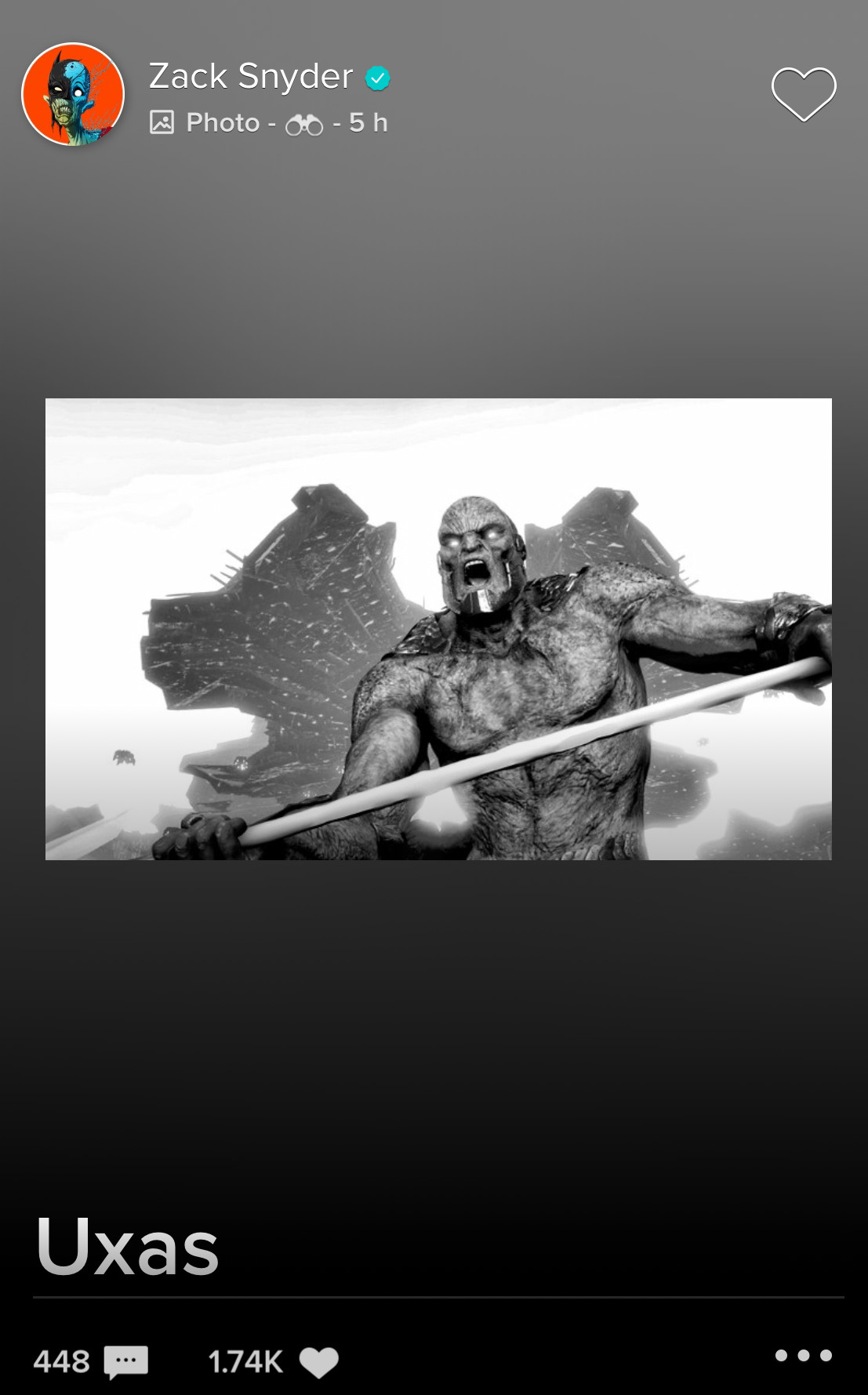 Zack Snyder Uxas Darkseid Justice League