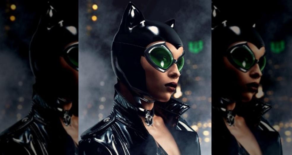 Zoe Kravitz Catwoman fan art The Batman
